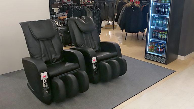 ChairTech Massagesessel in einem Kaufhaus