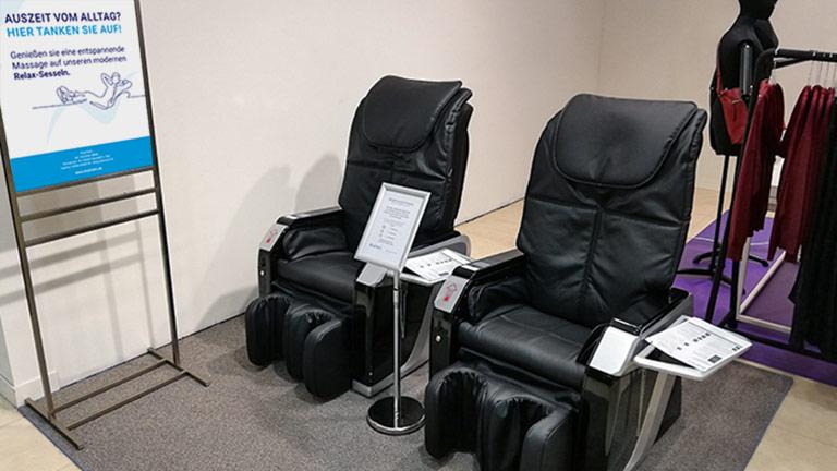 ChairTech Massagesessel in einem Stuttgarter Kaufhaus